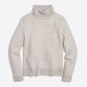 J. Crew SOFT Textured TurtleNeck Sweater Size L